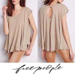 Free People Sylvie Trapeze Taupe Tee
